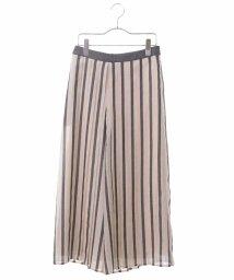 HIROKO BIS/【洗濯機で洗える】メッシュストライプパンツ/503361588