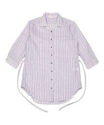 BRICKHOUSE/チュニック 七分袖 形態安定 やわらかガーゼ オープンカラー 綿100%/503361994