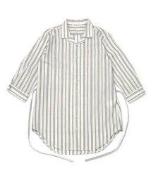 BRICKHOUSE/チュニック 七分袖 形態安定 やわらかガーゼ オープンカラー 綿100%/503361995