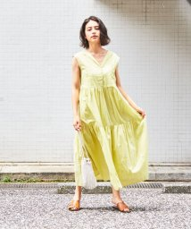 EMMEL REFINES/【別注】ne quittez pas × EMMEL REFINES  エリVネック ノースリーブ ロングワンピース / ヌキテパ/503357992