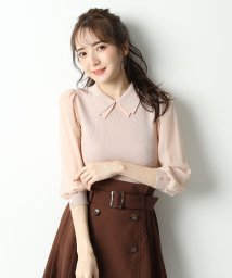 Rirandture/シフォン袖衿付ニット/503360661