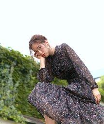 Rirandture/花柄ティアードワンピース/503360666