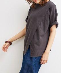 ViS/アシンメトリードロップショルダーTシャツ/503363327