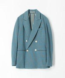 CABaN /コットンカシミヤ ギンガムチェックジャカードダブルブレストジャケット/503363399