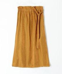 CABaN /シャイニーツイルポリエステル ウェストリボンIラインスカート/503363472