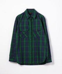 CABaN /ソフトコットン チェックシャツ/503363515