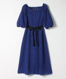 LANVIN en Bleu/シアードットボリュームスリーブワンピース/503175409