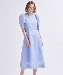 LANVIN en Bleu/タックスリーブワンピース/503275244