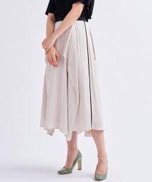 LANVIN en Bleu/サイドラインサテンスカート/503275248