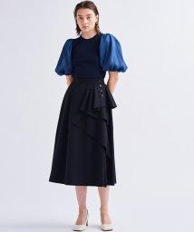 LANVIN en Bleu/ラッフルフレアスカート/503275249