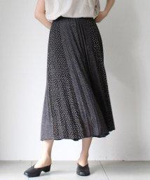 UNRELISH/切替ドットプリーツスカート/503327221