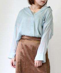 UNRELISH/シアーポケットシャツ/503334506