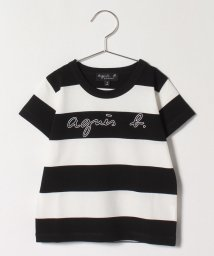 agnes b. ENFANT/SCN4 E TS キッズ ボーダーTシャツ/503359040