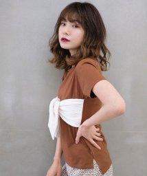 Cherie Mona/【CherieMona】フロントリボンTシャツ/503361129