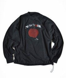 UNCUT BOUND/REMI RELIEF(レミレリーフ) 別注16/-天竺ロングTシャツ NEW YORK APPLE/503364110