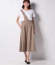 MELROSE Claire/【WEB限定】リネンレーヨンクロスワンストラップスカート/503360166
