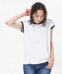 CARA O CRUZ/配色トリミングのフレンチスリーブTシャツ/503366048