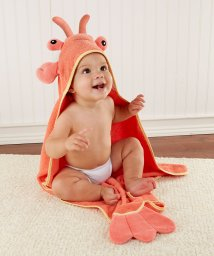 Baby Aspen/Baby Aspen ベビーアスペン フード付きベビーバスタオル ロブスター/503369111