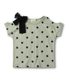 branshes/【プチプラ】肩あきドット半袖Tシャツ/503369219