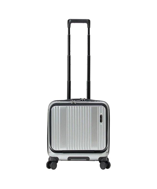 カバンのセレクション バーマス インターシティ 機内持ち込み Sサイズ 33L フロントオープン ストッパー付き BERMAS 60503 ユニセックス シルバー フリー 【Bag & Luggage SELECTION】