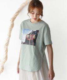 REAL CUBE/カラーフォトプリントTシャツ/503370445