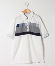 STYLEBLOCK/梨地異素材切替半袖ポロシャツビジネスカジュアル/503320007
