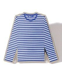 agnes b. FEMME/GX91 PIN ボーダーTシャツ モチーフピンバッジ/503326025