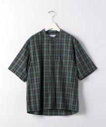 green label relaxing/CM チェック バギー バンドカラー 半袖 シャツ/503347050
