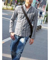 HIDEAWAYS NICOLE/イタリアンカラー長袖シャツ/503350936