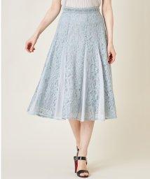 tocco closet luxe/【セットアップ対応商品】ウエストラインレース装飾フラワーレース×シフォン切替スカート/503362499