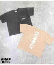 ANAP KIDS/ピグメントダイビッグTシャツ/503370940