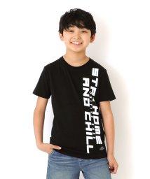 GLAZOS/天竺・縦ロゴプリント半袖Tシャツ/503371590