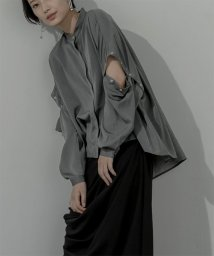miette/2wayスリーブバンドカラーフレアシャツ/503371614