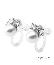 cream dot/耳元で上品に煌めくパール&ビジューピアス/イヤリング/503371703