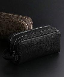 sankyoshokai/[marelli]アザラシ革セカンドバッグダブルファスナー日本製/503371725