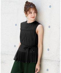 HAPPY EXP/チュールプリーツ ドッキングTシャツ/503371739