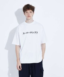 ABAHOUSE/【SUPER THANKS】 カタカナプリント 半袖Tシャツ/503372065