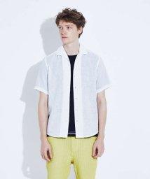 ABAHOUSE/【展開店舗限定】リネン イタリアンカラー 7分袖 シャツ/503372270
