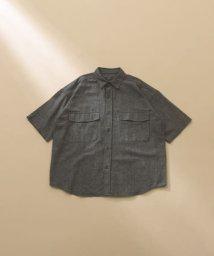 ITEMS URBANRESEARCH/綿麻ツイルビックワーク半袖シャツ/503372285