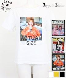 Primeira classe/スパンコール付きプリントTシャツ/503344251
