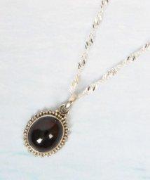 WYTHECHARM/【フランス買付】ガーネット装飾楕円ネックレス(一点もの)/503354967