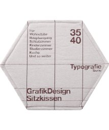 BRID/TYPOGRAPHY HONEYCOME CHAIR PAD GRID pattern/503357206