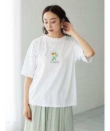 Green Parks/フラワーモチーフTシャツ/503360178