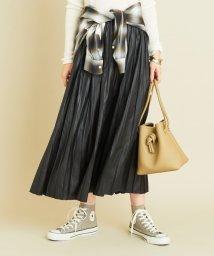 BEAUTY&YOUTH UNITED ARROWS/【予約】BY レザーライクサテンプリーツスカート/503364851