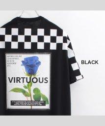 1111clothing/ビッグtシャツ メンズ ビッグシルエット レディース tシャツ 半袖 ビッグシルエットtシャツ 半袖tシャツ プリントtシャツ オーバーサイズ tシャツ バラ /503372240