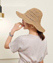 maison de LATIR/規則正しい網目が大人っぽい、シンプルな麦わら帽子/503374072