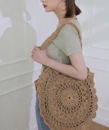 maison de LATIR/大きめの編み込みが大人の可愛さを添えるストローバッグ/503374073