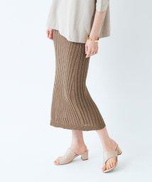 titivate/透かし編みリブニットIラインスカート/503374156