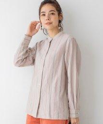 coen/ウィンターリネンバンドカラーチェックシャツ(バンドカラーシャツ)#/503374168