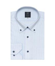 BRICKHOUSE/標準体 長袖 ワイシャツ 形態安定 ドゥエボットーニボタンダウン 白×サックス/503374210